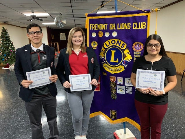 Fremont Students of the Month included Daniel Portillo, Olivia Zienta and Sabrina Flores.