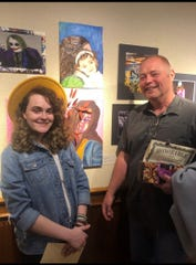 Southern Door High School art teacher George Ouimette stands with Jadacey Teska, a young musician he mentored in 2019.