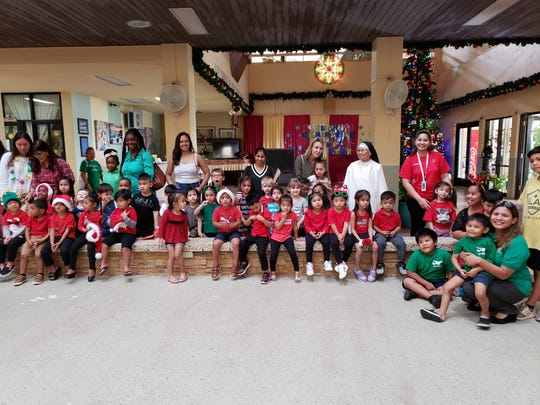 The Giving Tree Preschool's Pre-K class along with Dededo Childcare's Pre-K visited St. Dominic's Senior Care Home. The kids sang some Christmas carol's, performed dances and presented them with Christmas cards and arts for the holiday season. It was a magical moment of intergenerational interaction that was enjoyed by all.