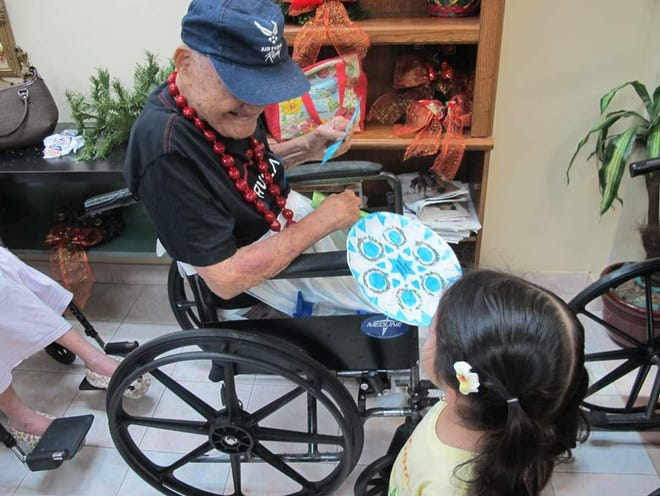 Giving Tree Preschool and Dededo Childcare students visited clients at St. Dominic's Senior Care Home.