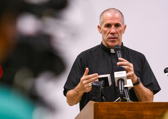 Archbishop Michael Byrnes is shown in this PDN file photo.
