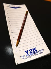 """A vintage Y2K """"To Do List"""" note pad distributed as a promotional give away Monday, December 30, 2019."""