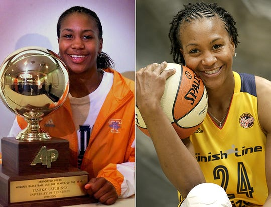Tamika Catchings starred at Tennessee before beginning her pro career in Indiana.