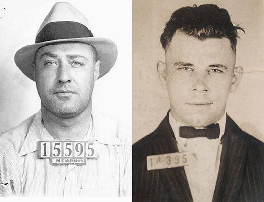 Machine Gun Kelly (left) had a cool nickname, but John Dillinger's rap sheet was unmatched.