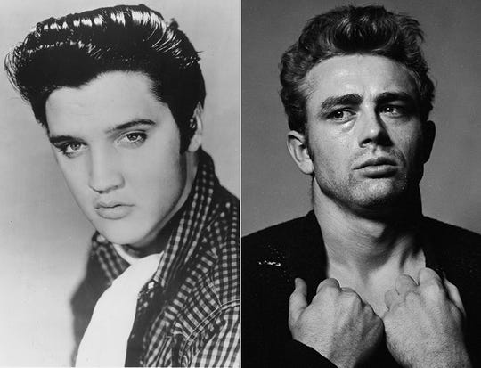 Elvis Presley and James Dean are two of the most iconic figures of cool.