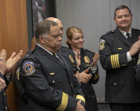 New Indianapolis Metropolitan Police Department chief Randal (Randy) Taylor, Indianapolis, Tuesday, Dec. 31, 2019.