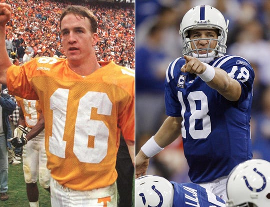 Peyton Manning was the BMOC in Knoxville before collecting MVP awards in Indianapolis.