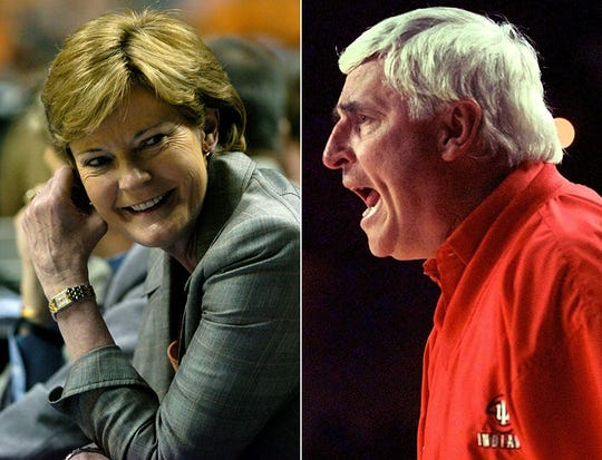 Pat Summitt and Bob Knight are two of college basketball's winningest coaches in history.