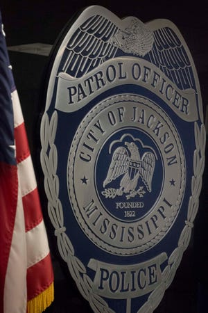 Jackson Police Department shield. Tuesday, Dec. 31, 2019.