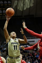 Purdue guard Dominique Oden (11) goes up for two during the fourth quarter of a NCAA women's basketball game, Tuesday, Dec. 31, 2019 at Mackey Arena in West Lafayette.
