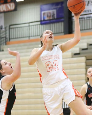 Brighton's Sophie Dziekan scored 22 points in a victory over Ypsilanti Arbor Prep, earning game MVP honors.
