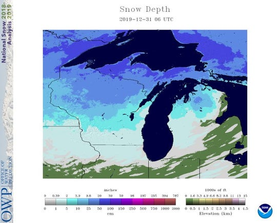 For one of the rare times during this winter season, snow covered the entire state of Wisconsin on Tuesday morning.