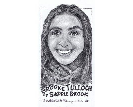 Brooke Tulloch, Saddle Brook wrestling
