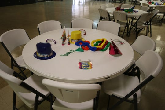 New Year's party decorations awaited members of Carlsbad Elks Lodge 1558 Tuesday.