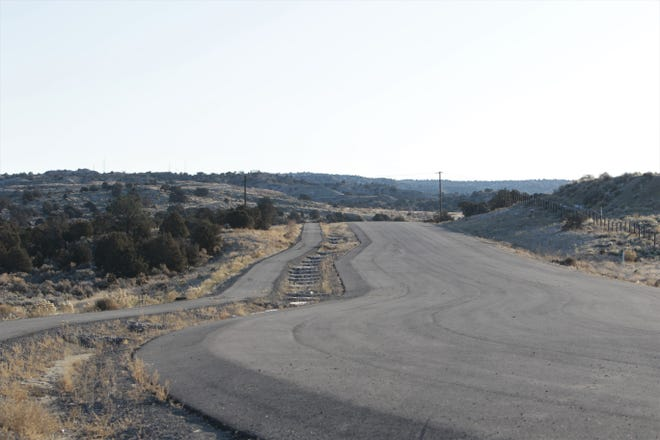 The south end of the East Aztec Arterial Route is pictured, Tuesday, Dec. 31, 2019, in Aztec. The city received funding in 2019 to complete the road.