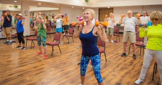 Activities include health and fitness for seniors.