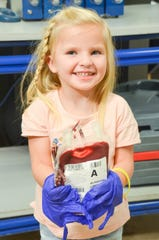Among the beneficiaries of blood donations is Adelyn Troutman from Ahwatukee. The 4-year-old was born with Diamond Blackfan Anemia and will receive her 60th blood transfusion in January.