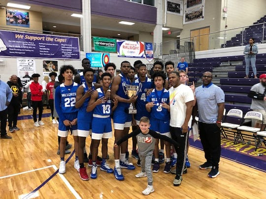 Hillcrest Prep after it won the John Wall tournament in North Carolina.