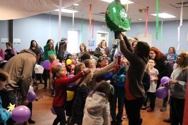 """The Ida Rupp Public Library hosted a mini """"Walleye Drop"""" of their own for the """"Noon Year's Eve"""" celebration on Tuesday."""