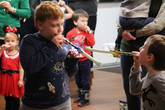With some of their younger patrons not able to stay up past midnight, the Ida Rupp Public Library offered them a chance to ring in the new year early on Tuesday.