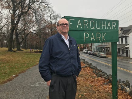 In July, on the 50th anniversary of the York riots, Bob Mann started placing flowers at Farquhar Park on the memorial benches. Recently, he added memorial markers.