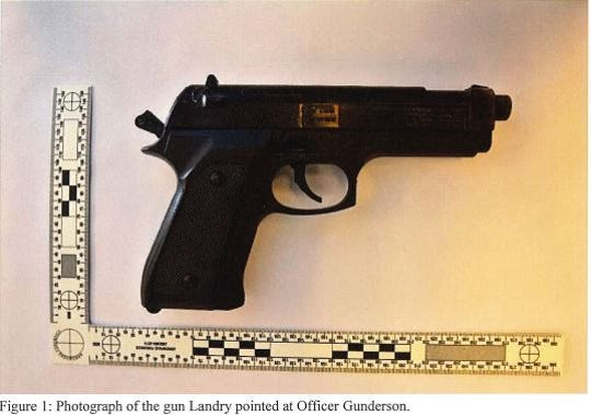 The Shasta County District Attorney's Office report on the June 1, 2019, fatal shooting of Nikolai Landry included a photo of the BB gun he pointed at an Anderson police officer.