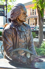 The City of Presidents program, which includes a walking tour of sculptures of presidents including Thomas Jefferson, is a program run by Visit Rapid City which encourages tourists and locals to spend quality time in the downtown retail zone.