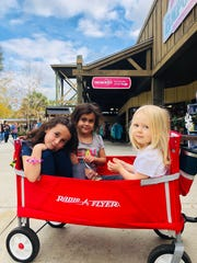 Apollonia, Vivian and their cousin Evelyn Gilpin had fun at Wild Adventures this past weekend.