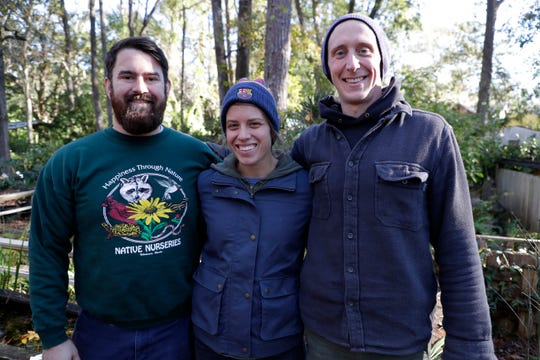 Joseph Walthall, Elizabeth Georges, and Seth Dunaway are the new co-owners of Native Nurseries, located on Centerville Road.