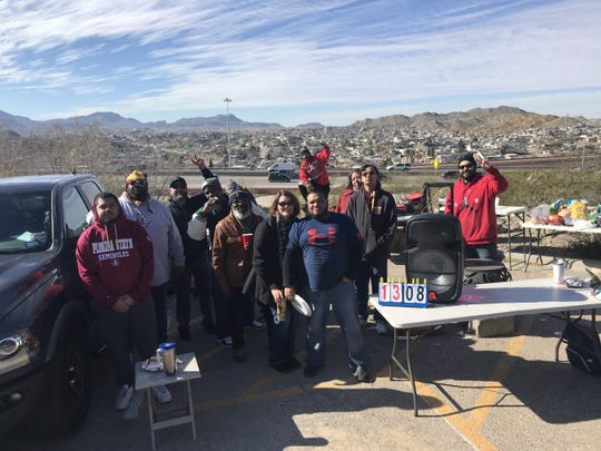 A group from El Paso was split between the two teams, Arizona State and Florida State, Tuesday at their tailgate.