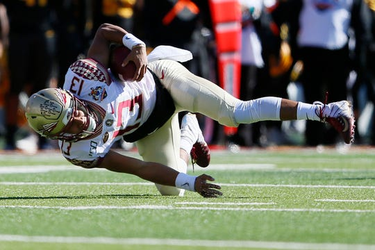 FSU's Jordan Travis during the game against ASU in the Tony the Tiger Sun Bowl Tuesday, Dec. 31, at the Sun Bowl in El Paso.