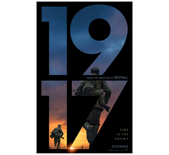 """The movie poster for """"1917."""""""