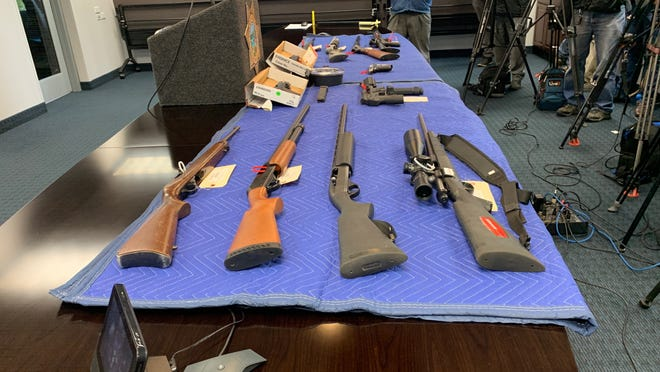 Fresno police seized dozens of guns and contraband while investigating the tragic November shooting at a Hmong family party that left four men dead.