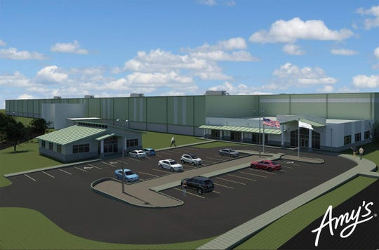 Rendering of the future $150 million, 390,000-square-foot Amy's Kitchen organic food factory complex, due in 2021, next to the Mid-Hudson Forensic Psychiatric Center, off Route 17M in the Town of Goshen.