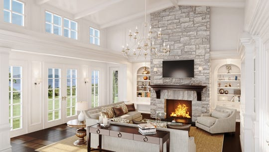 Maintenance free and stress free living is a must. This great room in a home at the Greystone development in Tarrytown offers just the right amount of space and light.