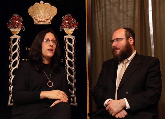 Rabbi Shmuel Gancz, and his wife, Devorah, parents of seven children, discuss how they talk to their children about the Monsey attack and anti-semitism Dec. 30, 2019 at the Chabad of Suffern.