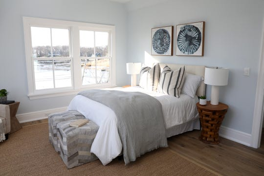 One of four-bedrooms in a waterfront new construction on Pine Island in Rye Dec. 20, 2019.