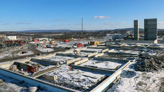 The future Legoland New York's hotel rises at the site of the $500 million theme park on Dec. 19, off state Route 17's Exit 125 in the Town of Goshen. Though the park is due to open July 4, 2020, the 250-room hotel won't open till 2021.