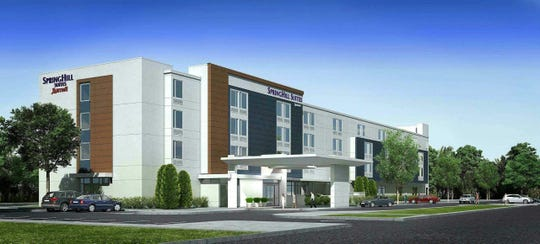A rendering of Simone Development's planned SpringHill Suites by Marriott hotel at Breunig Road and International Boulevard in New Windsor. Construction of the $17.3 million, 128-room hotel will begin in the spring can conclude in mid 2021.
