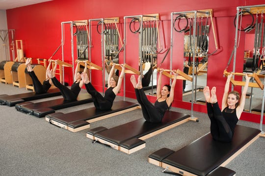A class at Authentic Pilates Learning Center in Mahwah, New Jersey.