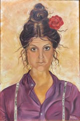 An oil portrait of Gilda Radner by Liles that will be included in her new show running Friday Jan. 10 through Mar. 13 at the Galleria at the Forum. Admission is free.