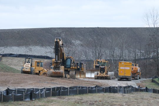 Construction equipment at the site of the new AMG Vanadium facility in Eastpointe Business Park. AMG Vanadium is the most recent of several large employers that built facilities at the park over the past decade.