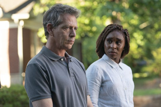 """Ben Mendelsohn as Ralph and Cynthia Erivo as Holly on """"The Outsider."""""""