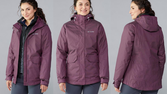 This 3-in-1 jacket works great for snow sports.