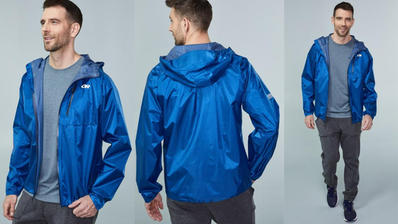 This waterproof jacket is lightweight.
