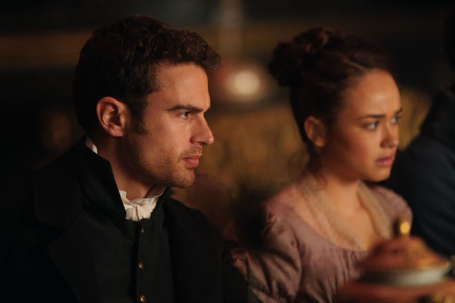 """Sidney Parker (Theo James) and Charlotte Heywood (Rose Williams) in """"Sanditon."""""""