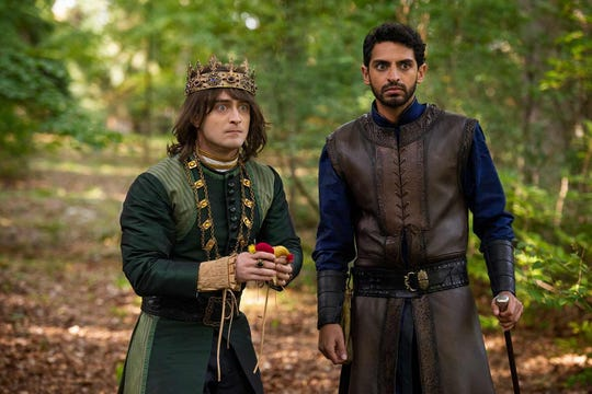 """Daniel Radcliffe and Karan Soni in """"Miracle Workers: Dark Ages."""""""