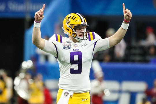 LSU quarterback Joe Burrow has thrown 55 touchdowns against six interceptions this season.