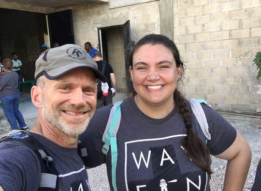 Michael Wurman and his daughter Brittany Pigott in the Dominican Republic.