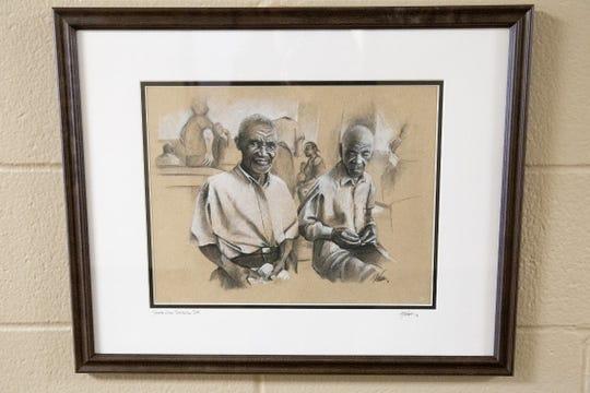 """""""Two Men"""" by Michael Wurman."""